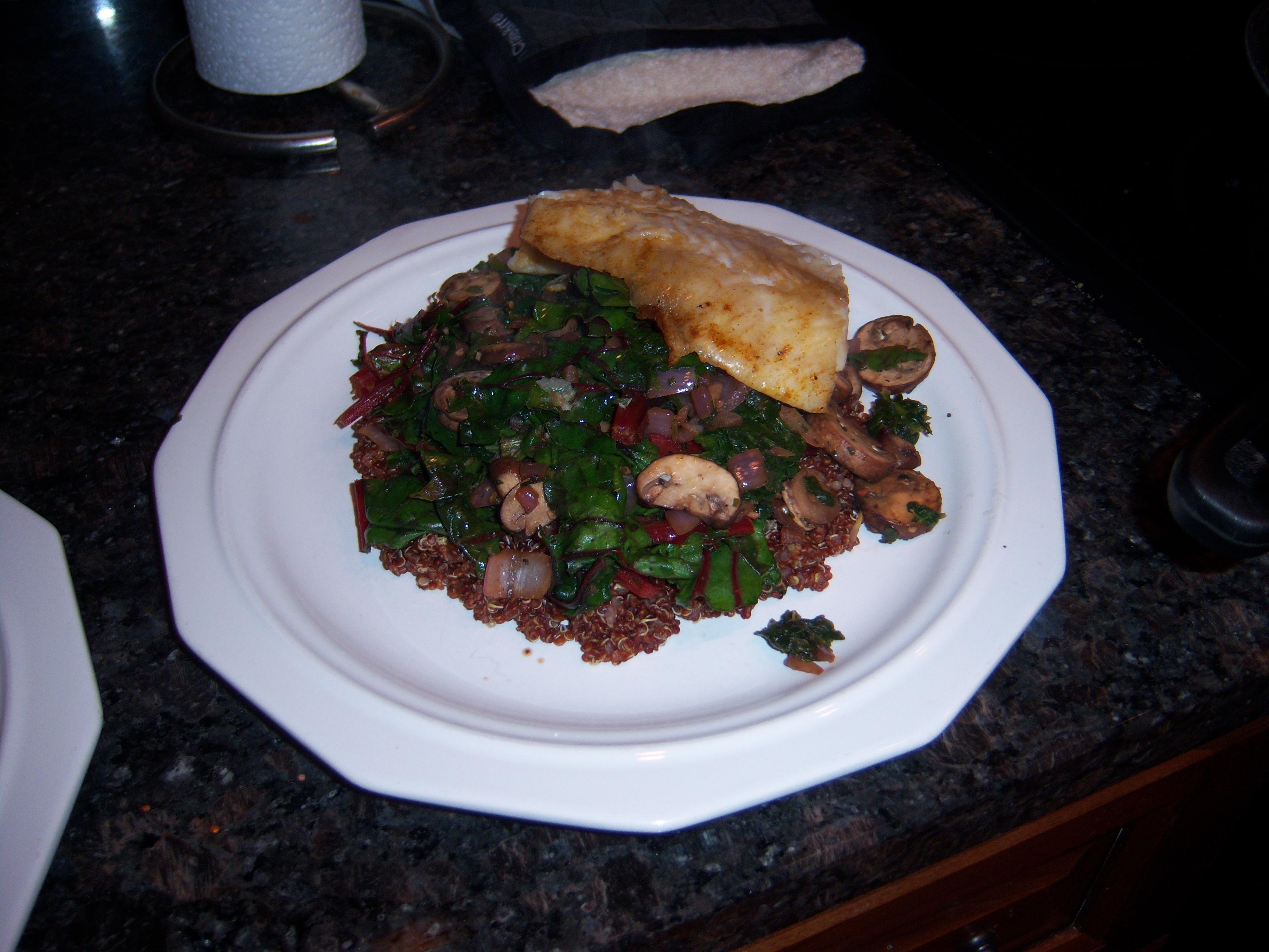 ... chard quinoa mushroom chard salad chard and mushroom quinoa chard